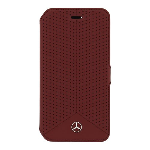 MEFLBKS6PERE Mercedes Book Pouzdro Perforated Red pro Samsung G920 Galaxy S6