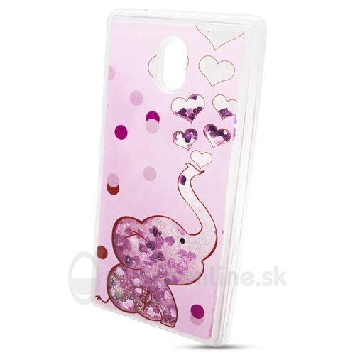 Puzdro Shimmer Design TPU Nokia 3 - slon