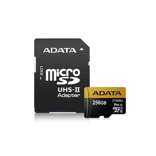 MicroSDHC/SDXC karta A-DATA UHS-II U3 karta 256GB Class 10 Ultra High Speed + adaptér