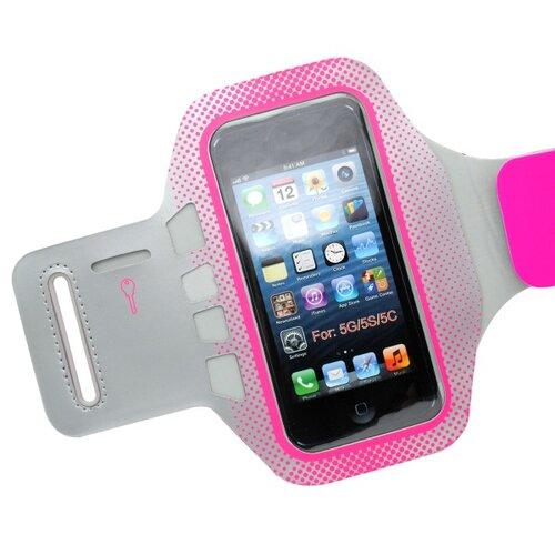 Športové puzdro na rameno iPhone 5/5S/SE, sivé/ružové