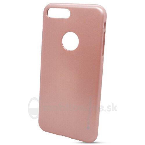 Puzdro Mercury i-Jelly TPU iPhone 7 Plus - zlato-ružové