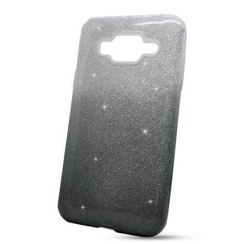 Puzdro 3in1 Shimmer TPU Samsung Galaxy J3 J320 2016 - strieborno-čierne