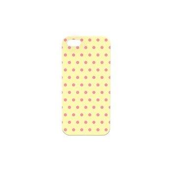 4-OK značkový zadný kryt na Samsung Galaxy S4 i9500/i9505/i9515VE - krémový vzor bodky