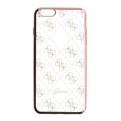 Puzdro Guess pre iPhone 5/5S/SE GUHCPSETR4GRG silikónové, ružovozlaté