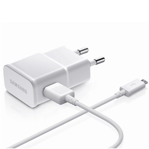 EP-TA20EWE plus DCU4AWE Samsung Micro-USB Cestovná nabíjačka 2A Quickcharge biela (Bulk) (origisamsung)