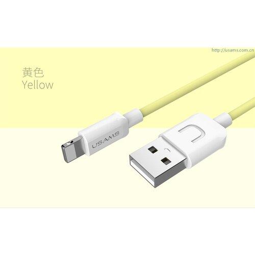 USAMS SJ097 Datový Kabel Lightning U Turn Yellow (EU Blister)