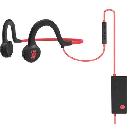 AfterShokz Sportz Titanium Mic, sportovní sluchátka před uši, s mikrofonem, červená