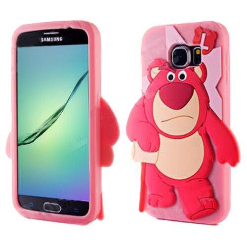 Puzdro 3D TPU Samsung Galaxy S5 G900/S5 Neo G903 Monster - ružovo-červené