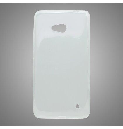 Puzdro mobilNET gumené Microsoft Lumia 640 LTE priehľadné