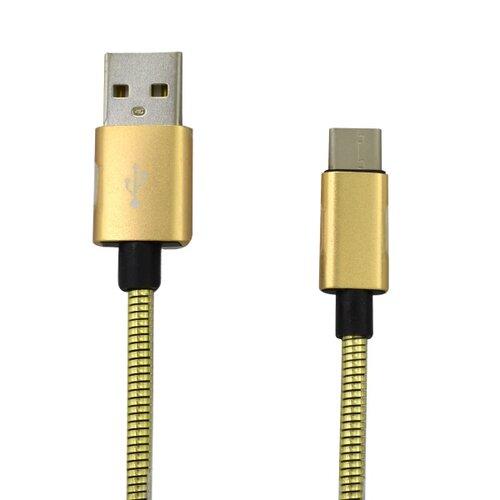 Dátový kábel MobilNET USB-C 2A 1m Zlatý
