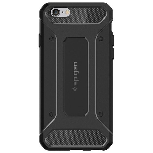 Puzdro iPhone 6/6s Spigen Rugged Armor TPU, čierne