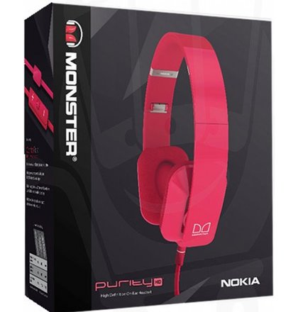 Nokia WH-930, káblový Stereo Headset by Monster, ružový