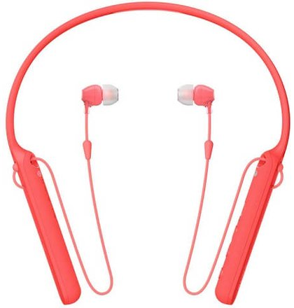SONY sluchátka WIC400R.CE7 bezdr.,červená