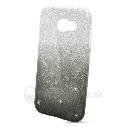 Puzdro 3in1 Shimmer TPU Samsung Galaxy A5 A520 2017 - strieborno-čierne