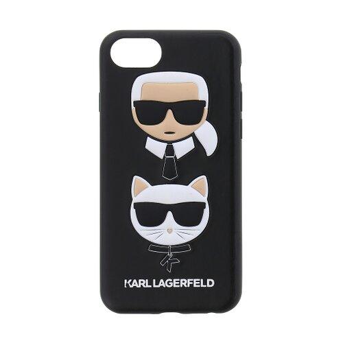 Puzdro Karl Lagerfeld pre iPhone 7/8 KLHCI8KICKC silikónové, čierne