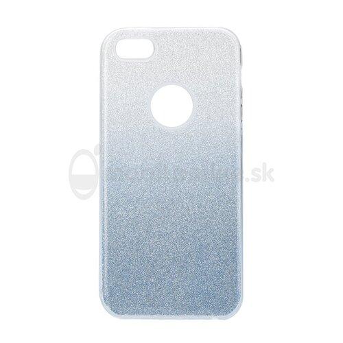 Puzdro 3in1 Shimmer TPU iPhone 5/5s/SE - strieborno-modré