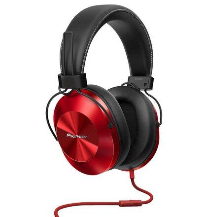 Pioneer náhlavní sluchátka Hi-Res červená