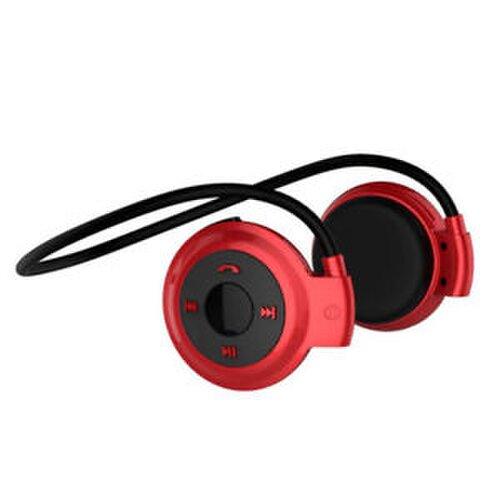 Wodasound ® Sports mini 503 Bluetooth stereo sluchátka za hlavu, MP3 a FM rádio Red