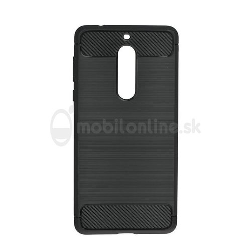 Puzdro Carbon Lux TPU Nokia 5 - čierne
