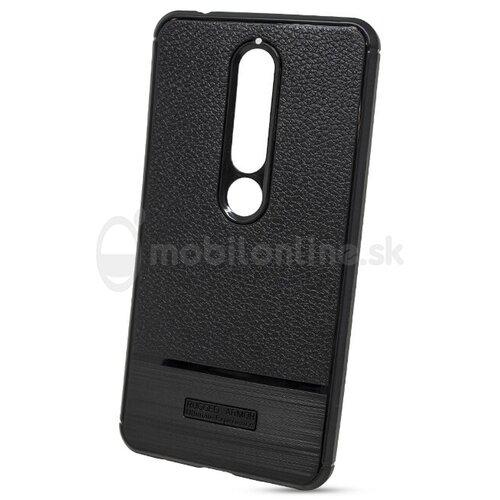 Puzdro Rugged Carbon TPU Nokia 6.1 2018 - čierne