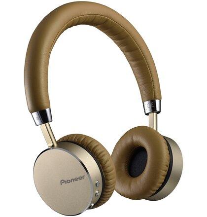 Pioneer sluchátka s BT hnědozlatá
