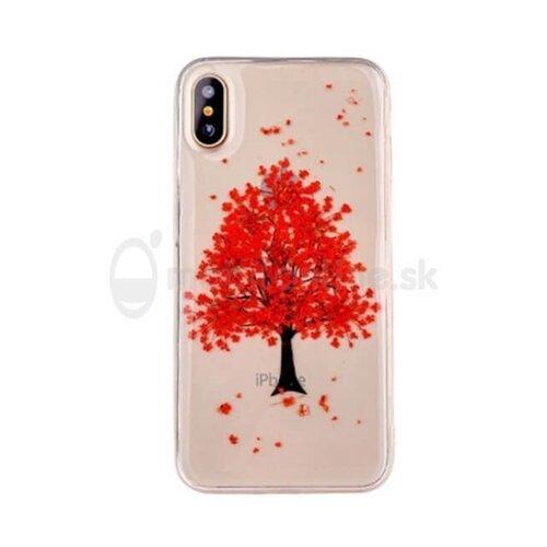 Puzdro Real Flower (skutočné kvety) TPU Samsung Galaxy J3 J320 2016 - červený strom