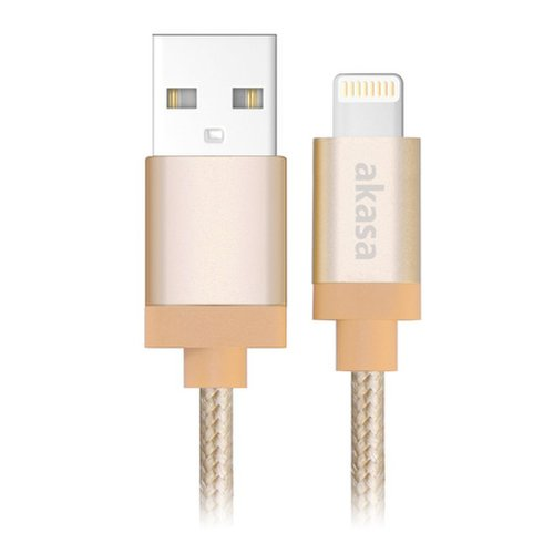 Dátový kábel Akasa Type-C 1m Zlatý