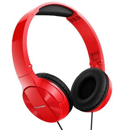Pioneer náhlavní sluchátka červená