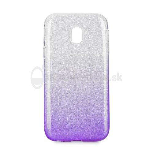 Puzdro Shimmer 3in1 TPU Samsung Galaxy J3 J330 2017 - strieborno-fialové