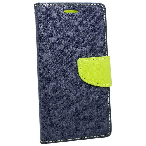 Puzdro Fancy Book Samsung Galaxy S5 Mini G800 - modro-limetkové