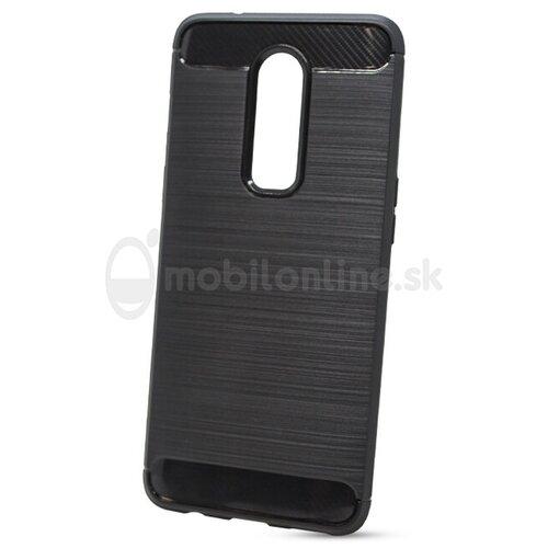 Puzdro Carbon Lux TPU One Plus 6 - čierne