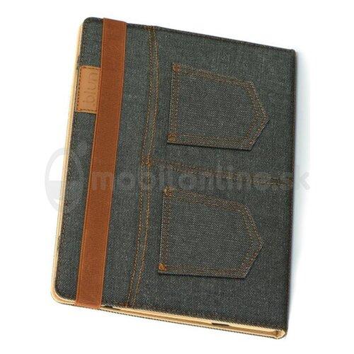 Puzdro Blun na tablet univerzálne 7 palcov - Jeans - čierne (rozmer zariadenia max 12,5 x 19,5 cm)