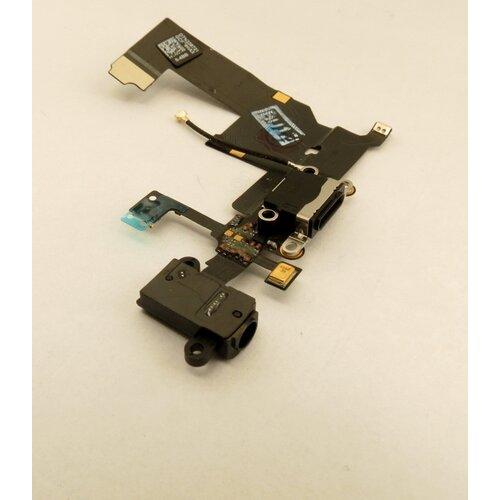 Apple iPhone 5 - Flex Kábel Nabíjacieho Konektora + Audio Jack - Čierny