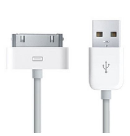 iPhone 4, 3G, 3GS Dátový Kábel Biely OEM (Bulk) náhrada za MA591G/A