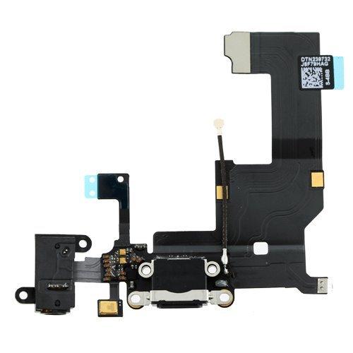Apple iPhone 5 - Flex Kábel Nabíjacieho Konektora + Audio Jack - Biely