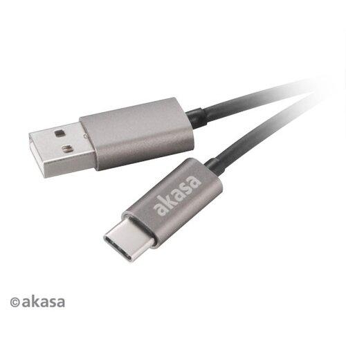 Dátový kábel Akasa Type-C 1m Čierny