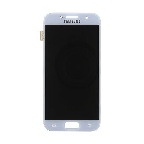Samsung A320 Galaxy A3 2017 - LCD Displej + Dotyková Plocha - Modrý (Service Pack)