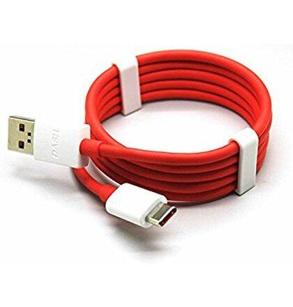 One Plus 3 3T Original Type C Datový kabel White/Red (Bulk)