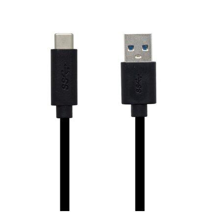 Dátový kábel USB Type C - USB 3.0, čierny, 1 m