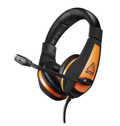 Canyon Star Rider CND-SGHS1, hráčsky headset s nízkou hmotnosťou, oranžovo čierny