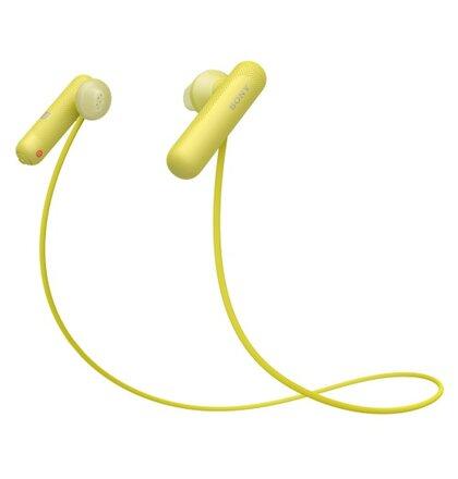 SONY sluchátka WI-SP500 bezdr.,žlutá