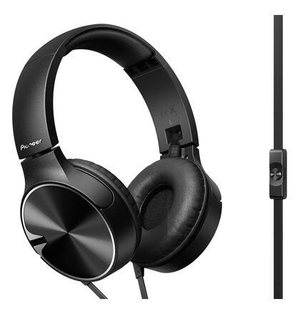 Pioneer styl. náhlavní sluchátka s mikrofon. černá