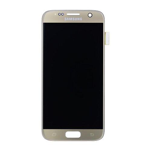 Samsung G930F Galaxy S7 - LCD Displej + Dotyková Plocha - Zlatý