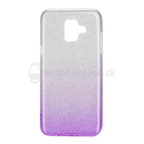 Puzdro 3in1 Shimmer TPU Samsung Galaxy A6 A600 - strieborno-fialové