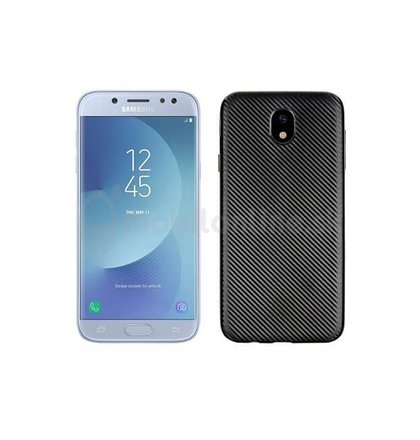 Puzdro Carbon Fiber TPU Samsung Galaxy J5 J530 - čierne