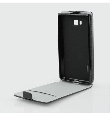 Samsung Galaxy S3 mini i8190/i8195/i8200VE knižkové ForCell Slim Flip Flexi puzdro, čierne