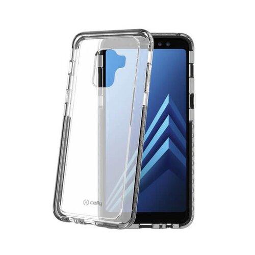 Zadný kryt CELLY Hexagon pre Samsung Galaxy A8 (2018), čierny
