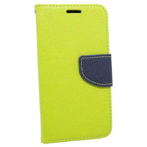 Puzdro Fancy Book Samsung Galaxy S9 G960 - limetkovo-modré