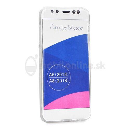 Puzdro Full Body 360 TPU Samsung Galaxy A8 2018 - transparentné