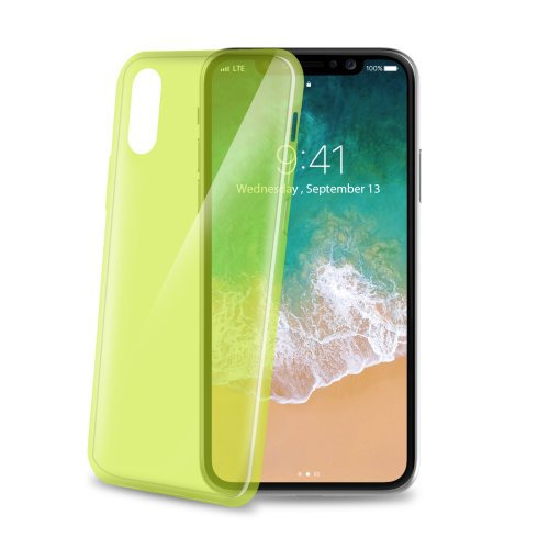 TPU puzdro CELLY Ultrathin pre Apple iPhone X/XS, svetlo zelené